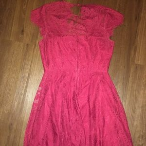 4738fe34 BB Dakota Dresses | Jayce Lace Wine Red Sheath Dress Size 6 | Poshmark